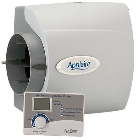 Aprilaire 500 Humidifier, 24V Whole House Humidifier w Auto Digital Control Bypass Damper .5 Gallons hour