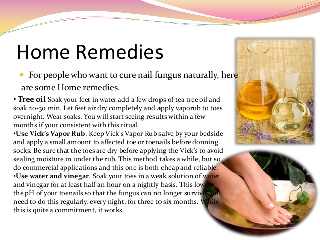 nail fungus home cures